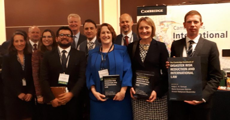 Launch of 'The Cambridge Handbook of Disaster Risk Reduction and International Law'.